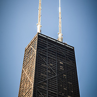Popular Chicago John Hancock Center building in downtown Chicago. Hancock Building is one of Chicago's most famous attractions. Photo is high resolution, and was taken in may 2010.