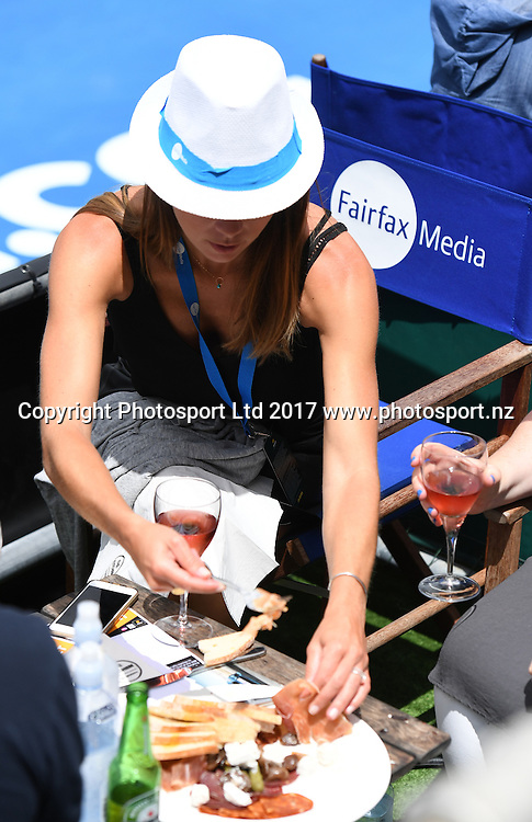Corporate hospitality with Fairfax media. Opening day at the Men's ASB Classic. ATP Mens Tennis Tournament. ASB Tennis Centre, Auckland, New Zealand. Monday 9 January 2017. © Copyright photo: Andrew Cornaga / www.photosport.nz