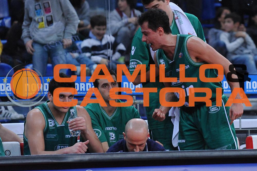 DESCRIZIONE : Pesaro Lega A 2010-11 Scavolini Siviglia Pesaro Benetton Treviso<br /> GIOCATORE : Alessandro Gentile Massimo Bulleri<br /> SQUADRA : Benetton Treviso<br /> EVENTO : Campionato Lega A 2010-2011<br /> GARA : Scavolini Siviglia Pesaro Benetton Treviso<br /> DATA : 19/03/2011<br /> CATEGORIA : delusione curiosita<br /> SPORT : Pallacanestro<br /> AUTORE : Agenzia Ciamillo-Castoria/M.Marchi<br /> Galleria : Lega Basket A 2010-2011<br /> Fotonotizia : Pesaro Lega A 2010-11 Scavolini Siviglia Pesaro Benetton Treviso<br /> Predefinita :