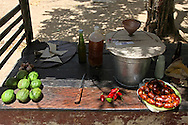 Food stand in Bocas, Holguin, Cuba.