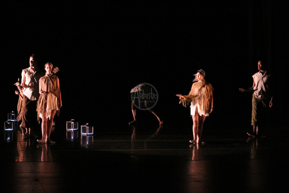 Coriolis Dance Collective rehearsing Tethered Apparitions for Chop Shop 2010.