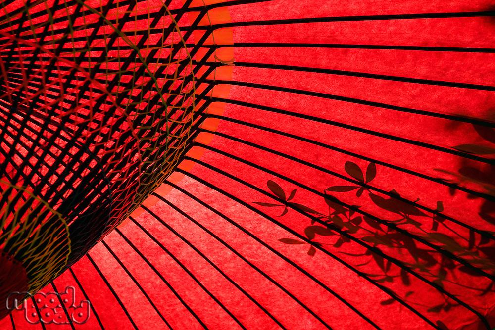 Japan Tokyo traditional red umbrella close-up
