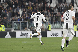 May 3, 2019 - Turin, Piedmont, Italy - Cristiano Ronaldo (Juventus FC) celebrates after scoring during the Serie A football match between Juventus FC and Torino FC at Allianz Stadium on May 03, 2019 in Turin, Italy..Final results: 1-1. (Credit Image: © Massimiliano Ferraro/NurPhoto via ZUMA Press)