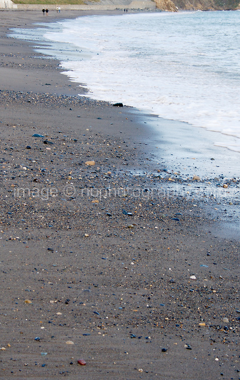 Waves on Killiney Beach in Dublin Ireland