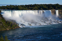 The American Falls viewed from Niagara Falls, Ontario Canada.