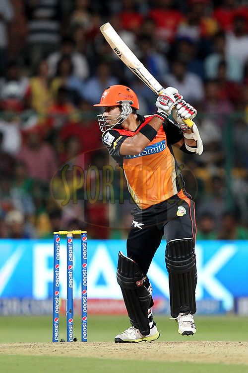 Naman Ojha of the Sunrisers Hyderabad during match 24 of the Pepsi Indian Premier League Season 2014 between the Royal Challengers Bangalore and the Sunrisers Hyderabad held at the M. Chinnaswamy Stadium, Bangalore, India on the 4th May  2014Photo by Prashant Bhoot / IPL / SPORTZPICSImage use subject to terms and conditions which can be found here:  http://sportzpics.photoshelter.com/gallery/Pepsi-IPL-Image-terms-and-conditions/G00004VW1IVJ.gB0/C0000TScjhBM6ikg