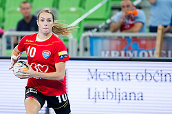 Lois Abbingh of HCM Baia Mare during handball match between RK Krim Mercator (SLO) and HCM Baia Mare (ROM) in 1st Round of Women's EHF Champions League 2015/16, on October 16, 2015 in Arena Stozice, Ljubljana, Slovenia. Photo by Urban Urbanc / Sportida
