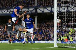 17th August 2017 - UEFA Europa League - Play-Off (1st Leg) - Everton v Hajduk Split - Michael Keane of Everton scores their 1st goal - Photo: Simon Stacpoole / Offside.