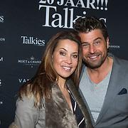 NLD/Amsterdam/20140203 - 20 Jaar Talkies Magazine, Sandy Kandau en partner Otto van der Toorn