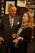 , SIMON WARD; CAROLINE VON REITZENSTEINBook party for 'The Liar's Ball' by Vicky Ward hosted by  Sir Evelyn  de Rothschild at Henry Sotheran's, 2 Sackville Street London. 25 November 2014