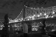 New York.  Manhattan cityscape, east river and the queensboro bridge , in Queens - United states / vue sur l'east river le pont de queensboro,  Queens New York - Etats unis
