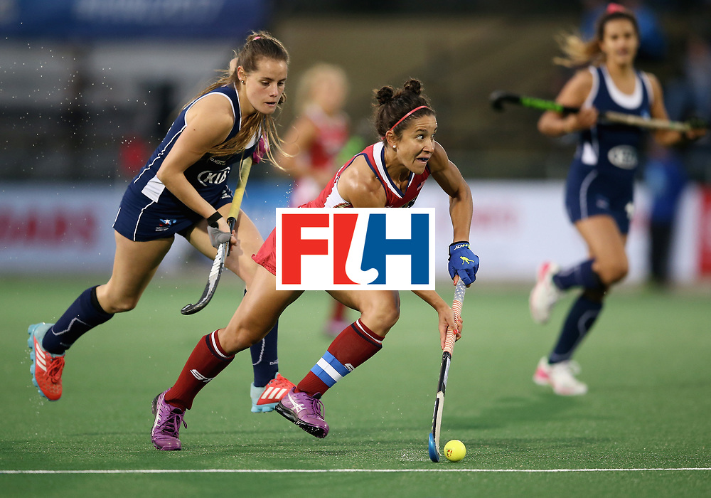 JOHANNESBURG, SOUTH AFRICA - JULY 08:  Melissa Gonzalez of the United States in action during the pool B match between the United States and Chile on day one of the FIH Hockey World League Semi-Final at Wits University on July 8, 2017 in Johannesburg, South Africa.  (Photo by Jan Kruger/Getty Images for FIH)
