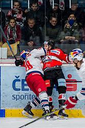01.02.2019, Ice Rink, Znojmo, CZE, EBEL, HC Orli Znojmo vs EC Red Bull Salzburg, 43. Runde, im Bild v.l. Brent Regner (EC Red Bull Salzburg) Radim Matus (HC Orli Znojmo) // during the Erste Bank Eishockey League 43th round match between HC Orli Znojmo and EC Red Bull Salzburg at the Ice Rink in Znojmo, Czechia on 2019/02/01. EXPA Pictures © 2019, PhotoCredit: EXPA/ Rostislav Pfeffer