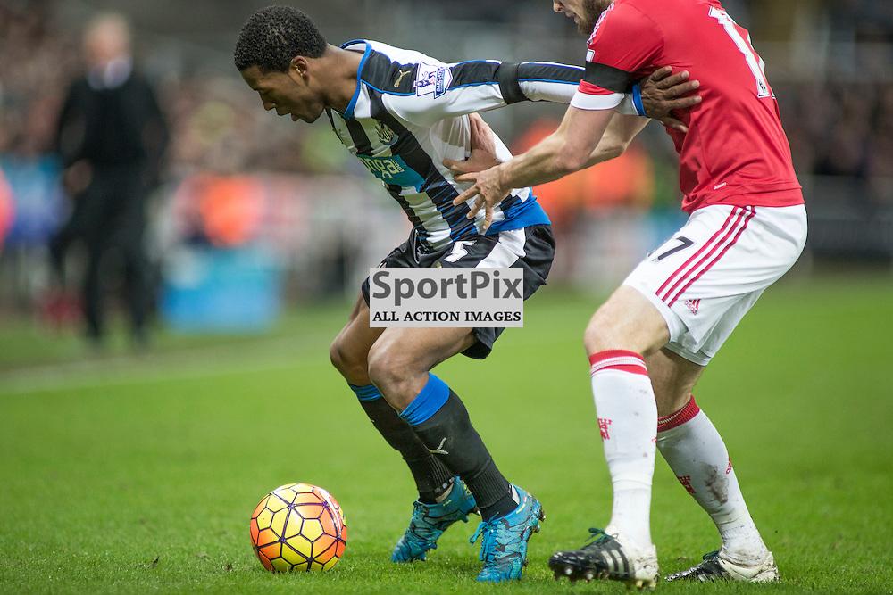 Newcastle v Manchester Utd 12 January 2016<br />Wijnaldum<br />(c) Russell G Sneddon / SportPix.org.uk