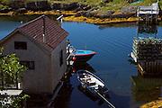 Home in the harbour of Blue Rocks, Nova Scotia.