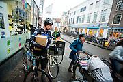 In Utrecht brengt Gijs van Fietskoerier Utrecht op een duurzame manier bestellingen.