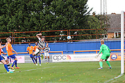 Forest Green Rovers Christian Doige (9) goes close during the Vanarama National League match between Braintree Town and Forest Green Rovers at the Amlin Stadium, Braintree, United Kingdom on 24 September 2016. Photo by Shane Healey.