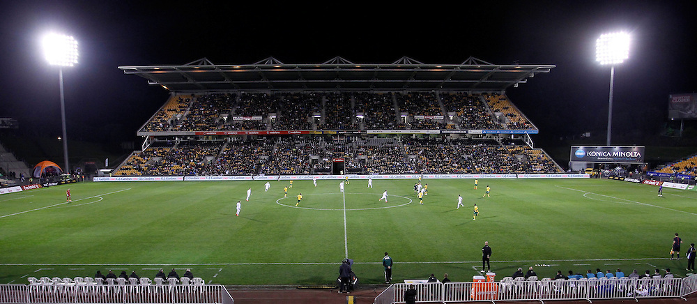 General view of Mt Smart Stadium during the International Friendly between New Zealand All Whites v South Africa at Mt Smart Stadium, Auckland, New Zealand on Friday 30th May 2014.. Photo: Shane Wenzlick