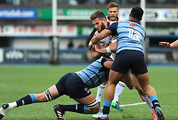 John Andrew of Ulster Rugby is tackled by Nick Williams of Cardiff Blues - Mandatory by-line: Nizaam Jones/JMP- 24/03/2018 - RUGBY - BT Sport Cardiff Arms Park- Cardiff, Wales - Cardiff Blues v Ulster Rugby - Guinness Pro 14