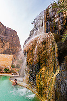 The Cascade Spa at the Evason Ma'in Hot Springs Resort, Jordan.