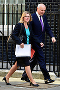 &copy; Licensed to London News Pictures. 04/06/2013. Westminster, UK. Justine Greening, Conservative MP, &nbsp;International Development Secretary,<br /> , Iain Duncan Smith, Conservative MP, Secretary of State for Work and Pensions. MP's on Downing Street today 4th June 2013. Photo credit : Stephen Simpson/LNP