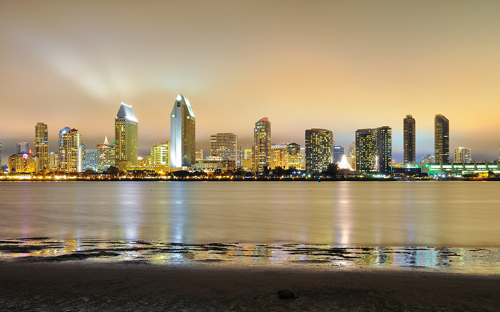 This is a picture of the San Diego California Skyline.<br /> <br /> Camera <br /> NIKON D5000<br /> Lens <br /> 17.0-50.0 mm f/2.8<br /> Focal Length <br /> 29<br /> Shutter Speed <br /> 13<br /> Aperture <br /> 5.6<br /> ISO <br /> 200