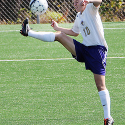 Photos by Tom Kelly IV<br /> WCU's Lauren Heisse (10) controls the ball, during the Indiana University of Pennsylvania (IUP) vs West Chester University (WCU) women's soccer game in East Bradford Township, Wednesday afternoon October 2, 2013.
