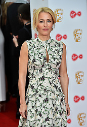 Gillian Anderson arriving for the Virgin TV British Academy Television Awards 2017 held at Festival Hall at Southbank Centre, London. PRESS ASSOCIATION Photo. Picture date: Sunday May 14, 2017. See PA story SHOWBIZ Bafta. Photo credit should read: Matt Crossick/PA Wire