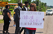 Saraland Alabama, May 20, 2018,<br /> supporters of Chikesia Clemons in Saraland Alabama during a march seeking justice for her in Saraland, AL.