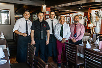 Pepe and staff at Playa Bella Restaurante, Estepona, Malaga Province, Spain, 16th February 2020, 202002162224<br /><br />Copyright Image from Victor Patterson, Belfast, UK<br />t: +44 28 9066 1296 <br />(from Rep of Ireland 048 9066 1296) <br />m: +44 7802 353836 <br />victorpattersonbelfast@gmail.com <br />www.victorpatterson.com<br /><br />Please see my Terms and Conditions of Use at https://www.victorpatterson.com/page2 <br /><br />It is IMPORTANT that you familiarise yourself with them.<br /><br />Images used on the Internet incur an additional cost and must be visibly watermarked i.e. © Victor Patterson within the body of the image and copyright metadata must not be deleted. Images used on the Internet have a size restriction of 4kbs and are chargeable at rates available at victorpatterson.com.<br /><br />This image is only available for the use of the download recipient i.e. television station, newspaper, magazine, book publisher, etc, and must not be passed on to any third party. It is also downloaded on condition that each and every usage is notified within 7 days to victorpattersonbelfast@gmail.com<br /><br />The right of Victor Patterson to be identified as the author is asserted in accordance with The Copyright Designs And Patents Act (1988). All moral rights are asserted.