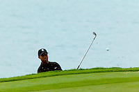 Tiger Woods, chips onto green twelve at day two of practices of the PGA championship at Whistling Straits Tuesday Aug. 10, 2004 Haven Wi.     Photo Darren Hauck..............................