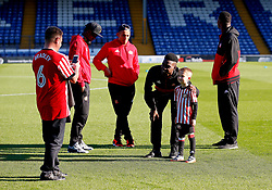 A young Sunderland fan has pictures taken with players on the pitch before the game - Mandatory by-line: Matt McNulty/JMP - 10/08/2017 - FOOTBALL - Gigg Lane - Bury, England - Bury v Sunderland - Carabao Cup - First Round