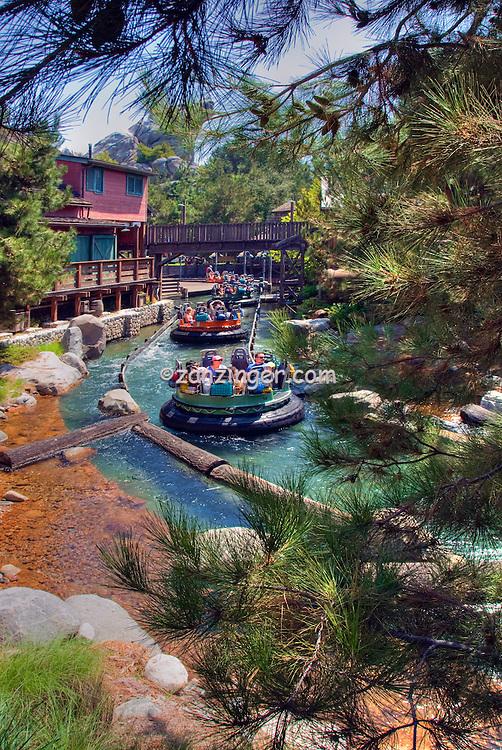 Grizzly River Run, in the Grizzly Peak, Recreation Area, Disney's California Adventure, Disneyland, Anaheim, California, usa