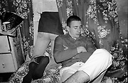 Ivor and Gavin in bedroom at Hawthorne Road, UK, 1980s.