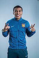 Portrait of Colombian soccer player Roger Martinez of Jiangsu Suning F.C. for the 2017 Chinese Football Association Super League, in Nanjing city, east China's Jiangsu province, 27 February 2017.