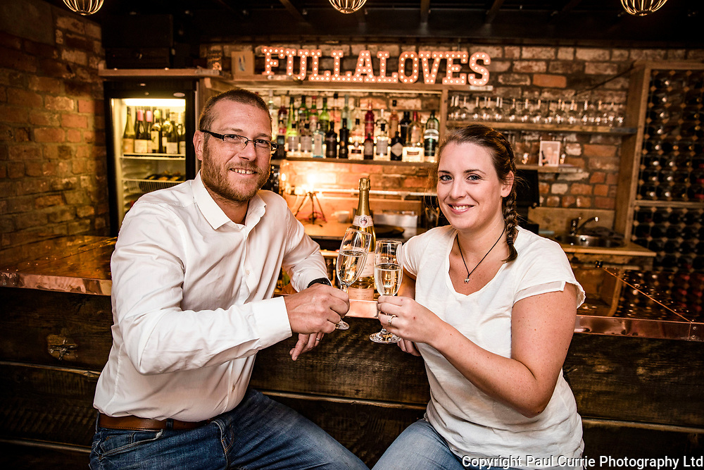 Ben and Andrea Fullalove at their Wine bar in Longridge<br /> Pictures by Paul Currie<br /> 07796 146931<br /> www.paulcurriephotos.com