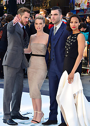 Stars Chris Pine, Benedict Cumberbatch, Zachary Quinto, Zoe Saldana, Simon Pegg, Alice Eve  during the International Film Premiere for Star Trek Into Darkness, The Empire Cinema,  London, UK, on 02 May 2013, 03 May 2013. Photo by:  Nils Jorgensen / i-Images