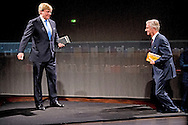 18-10-2016 FRANKFURT GERMANY - King Willem Alexander and King Philippe and queen Mathilde of Belgium during the opening of the frankfurt buchmesse and the Dutch and Flemish Pavilion. COPYRIGHT ROBIN UTRECHT<br /> 18-10-2016 FRANKFURT  - Koning Willem Alexander opent dinsdag 18 oktober 2016 samen met Zijne Majesteit Koning Filip der Belgen het Nederlands-Vlaams paviljoen op de Frankfurter Buchmesse. Nederland en Vlaanderen zijn samen eregast van de Buchmesse 2016. Koningin Mathilde is aanwezig. COPYRIGHT ROBIN UTRECHT<br /> kh,