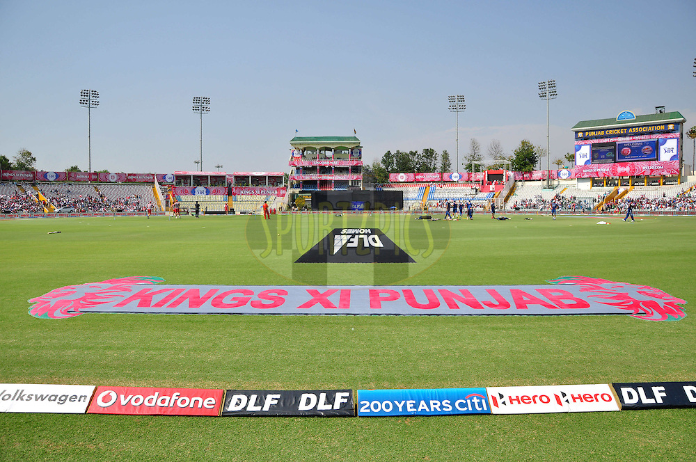 A view of Cricket Association Stadium during match 33 of the the Indian Premier League ( IPL) 2012  between The Kings X1 Punjab and The Mumbai Indians held at the Punjab Cricket Association Stadium, Mohali on the 25th April 2012..Photo by Arjun Panwar/IPL/SPORTZPICS
