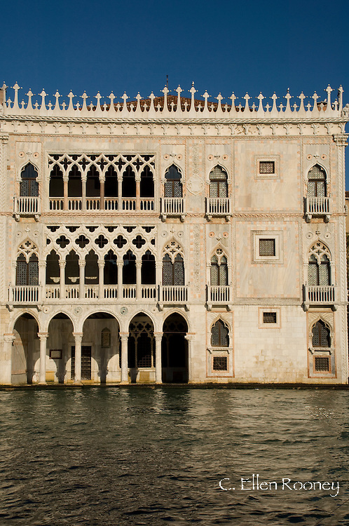 The Ca D'Oro Palazzo on The Grand Canal;  Venice, Italy