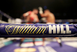 William High signage on the ring ropes at the Principality Stadium, Cardiff. PRESS ASSOCIATION Photo. Picture date: Friday March 30, 2018. See PA story BOXING Cardiff. Photo credit should read: Nick Potts/PA Wire