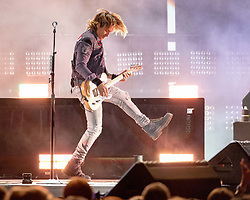 June 19, 2018 - Oshkosh, Wisconsin, U.S - KEITH URBAN during Country USA Music Festival at Ford Festival Park in Oshkosh, Wisconsin (Credit Image: © Daniel DeSlover via ZUMA Wire)