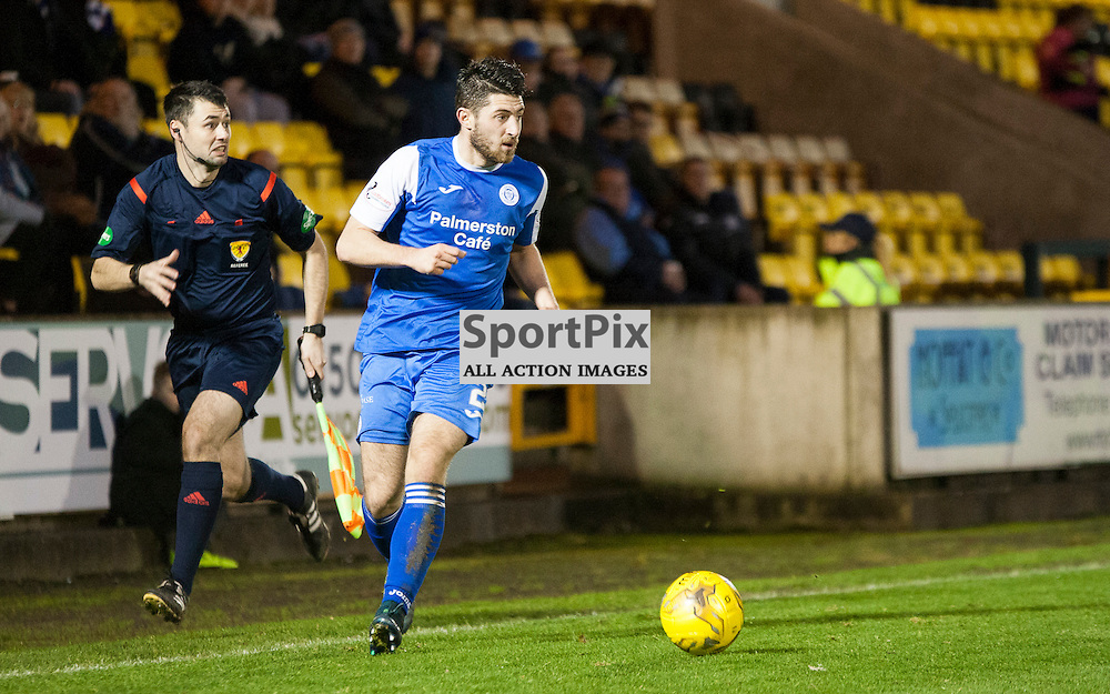 Livingston v Queen of the South, Scottish Championship, 2 January 2016, Lewis Kidd (Queen of the South, 2) during the Livingston v Queen of the South Scottish Championship match played at the Toni Macaroni Arena, © Chris Johnston | SportPix.org.uk