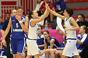 LILLE 21 GIUGNO 2013<br /> EUROPEI FEMMINILI 2013<br /> ITALIA - SLOVACCHIA<br /> NELLA FOTO ESULTANZA NAZIONALE GIULIA GATTI GIORGIA SOTTANA<br /> FOTO CIAMILLO