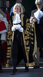 © Licensed to London News Pictures. 03/10/2016. London, UK. The Lord Chancellor and Secretary of State for Justice Liz Truss to Parliament after attending the annual Judges Service at Westminster Abbey. The Service heralds the start of the legal year in the United Kingdom The fourth term of the legal year, known as Michaelmas term. Photo credit: Peter Macdiarmid/LNP