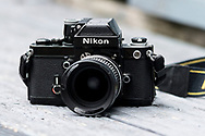 London, England - October 08, 2016: Nikon F2a Single Lens Reflex 35mm Film Camera, First released in 1971.