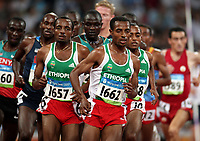 Friidrett ,  Olympiske Leker / OL / 2008 23.08.2008 <br /> Norge- Russland<br /> 5000 m: Kenenisa Bekele (1662) og Tariku Bekele (1657) , ETH
