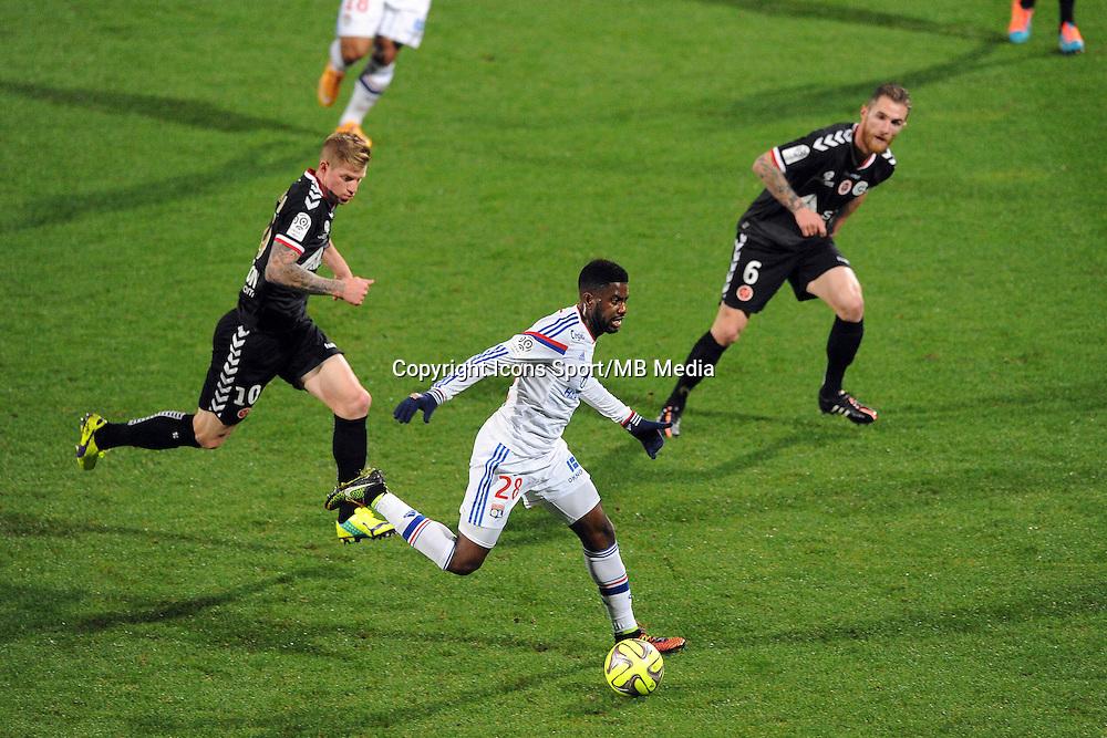 Arnold MVUEMBA - 04.12.2014 - Lyon / Reims - 16eme journee de Ligue 1  <br />Photo : Jean Paul Thomas / Icon Sport