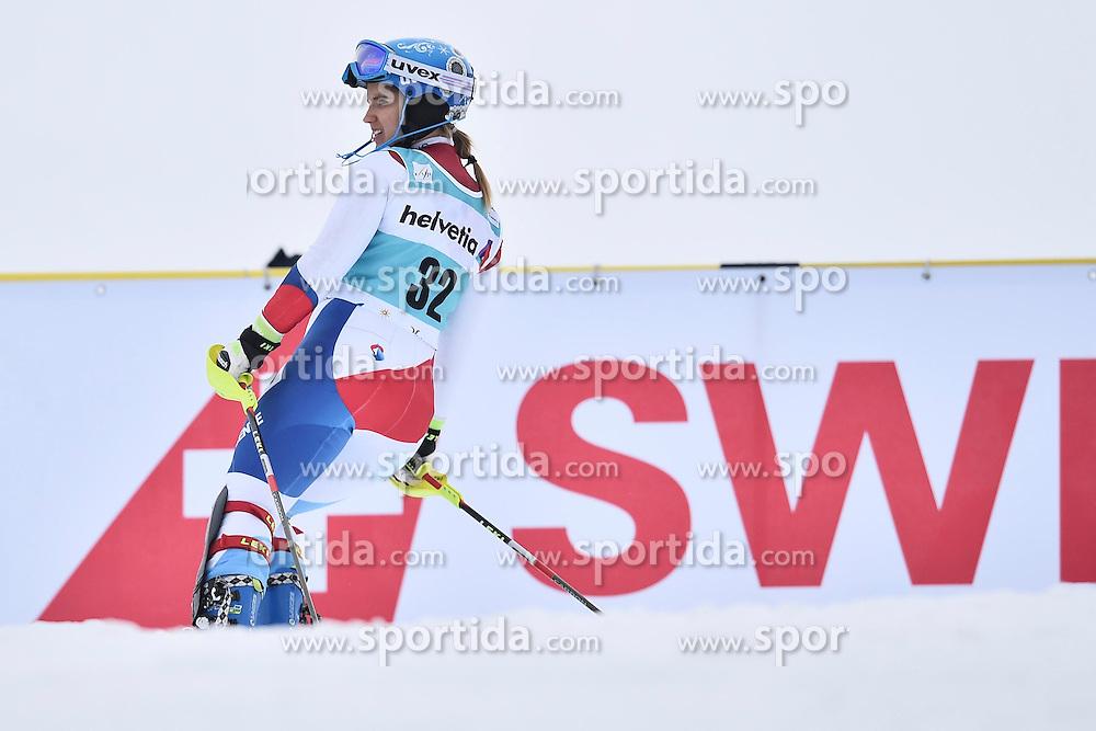 13.03.2016, Pista Silvano Beltrametti, Lenzerheide, SUI, FIS Weltcup Ski Alpin, Lenzerheide, Superkombination, Slalom, Damen, im Bild Joana Haehlen (SUI) // during ladie's Supercombi, Slalom Race of Lenzerheide FIS Ski Alpine World Cup at the Pista Silvano Beltrametti in Lenzerheide, Switzerland on 2016/03/13. EXPA Pictures &copy; 2016, PhotoCredit: EXPA/ Freshfocus/ Manuel Lopez<br /> <br /> *****ATTENTION - for AUT, SLO, CRO, SRB, BIH, MAZ only*****