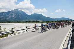 The peloton reach the halfway point at Giro Rosa 2018 - Stage 9, a 104.7 km road race from Tricesimo to Monte Zoncolan, Italy on July 14, 2018. Photo by Sean Robinson/velofocus.com
